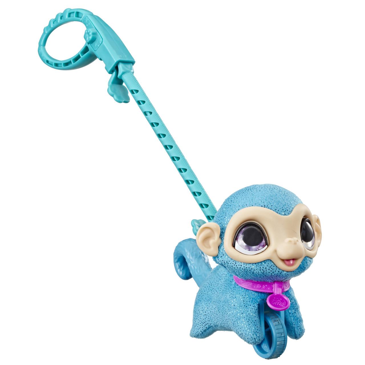 Hasbro Интерактивная игрушка Фурриал Френдс маленький питомец на поводке Обезьянка