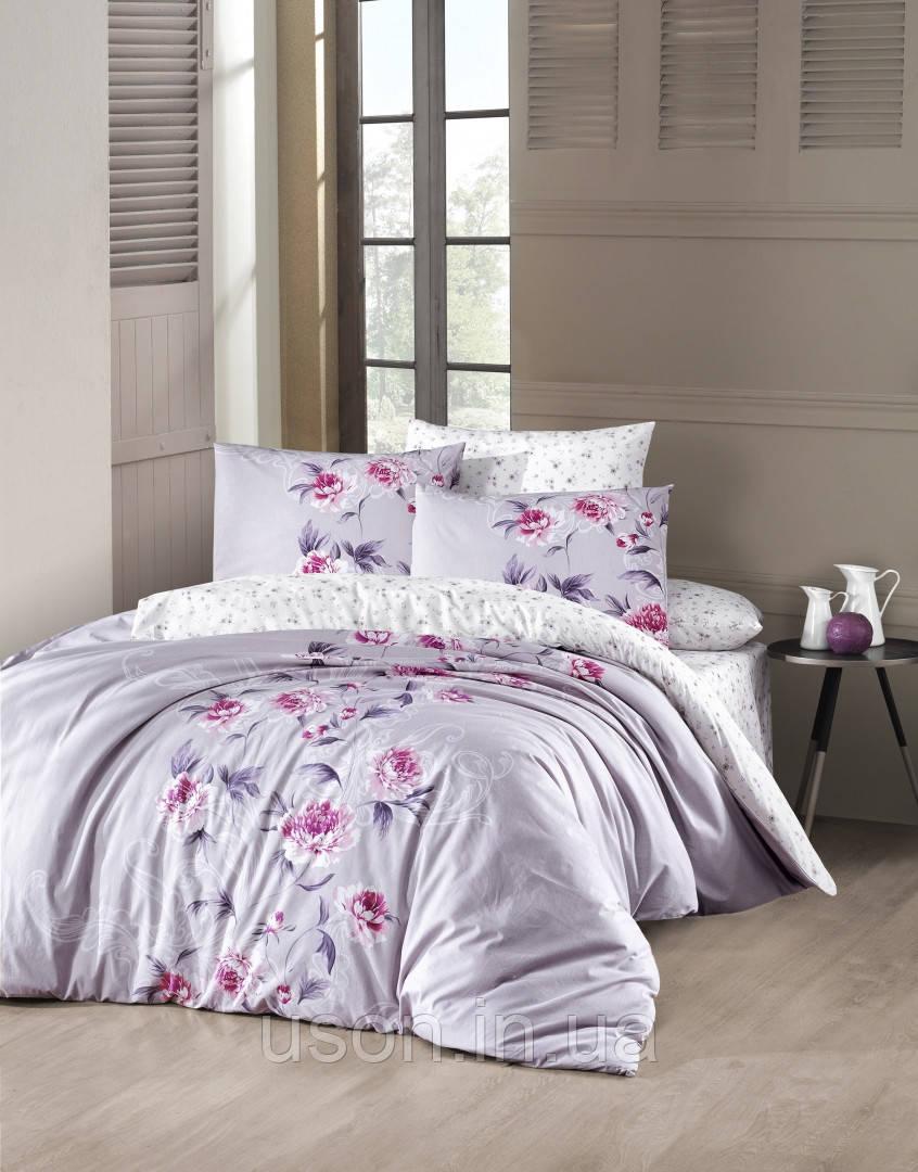Комплект постельного белья TM First Choice ранфорс Luisa leylak