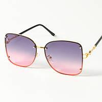 Женские солнцезащитные квадратные очки (арт. 3-2429/1) розово-голубые, фото 1