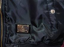 Мужская куртка (весна\осень) - Бомбер Bape Gold Shark черная, фото 3