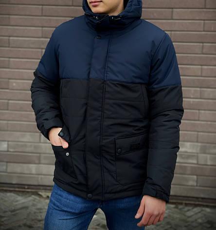 Мужская куртка (весна\осень) -  Intruder 'WaterProof' синяя-черная +ПОДАРОК бафф, фото 2