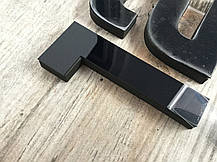 """3D часы настенные средние """"DIY Clock"""" от 60 до 120см Black цвет черный (8516-014), фото 2"""