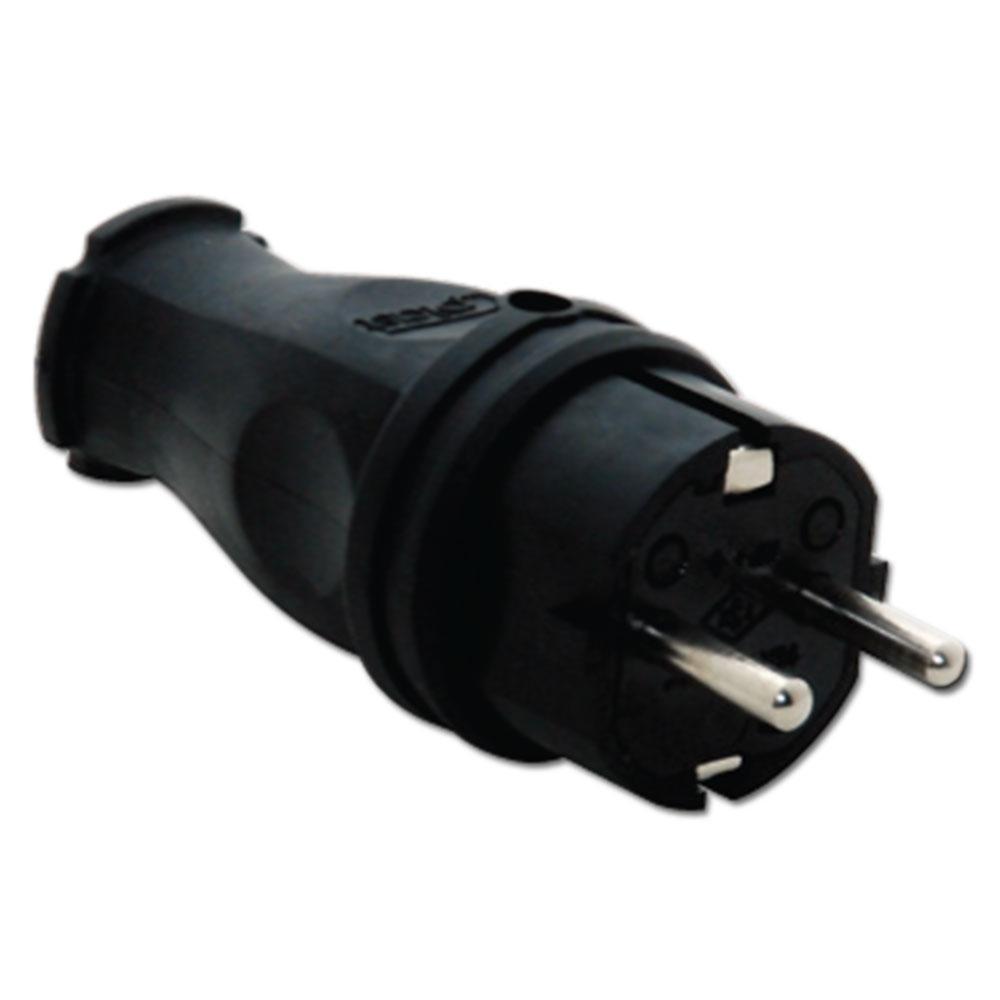Вилка кабельна 1х16А ІР44 чорна