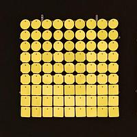 Планшеты с пайетками 30 мм, SolaAir, цвет 18 / Желтый, 1 шт