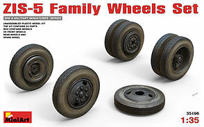 Набор колес для модели автомобиля ЗиС-5 в масштабе 1/35. MINIART 35196