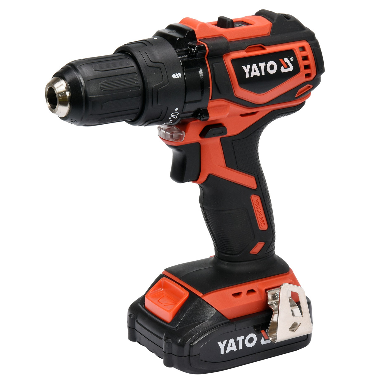 Шуруповерт-дрель бесщеточный аккумуляторный YATO YT-82794