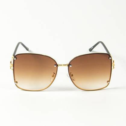 Оптом женские солнцезащитные квадратные очки (арт. 3-2429/2) коричневые, фото 2