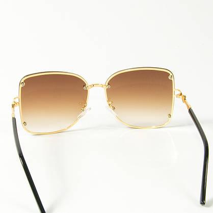 Оптом женские солнцезащитные квадратные очки (арт. 3-2429/2) коричневые, фото 3