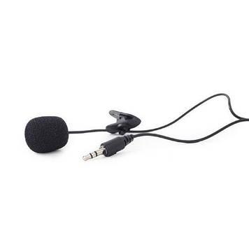 Gembird MIC-C-01, чорного кольору Микрофон с клипсой, 3.5 мм аудио разъем, черный цвет