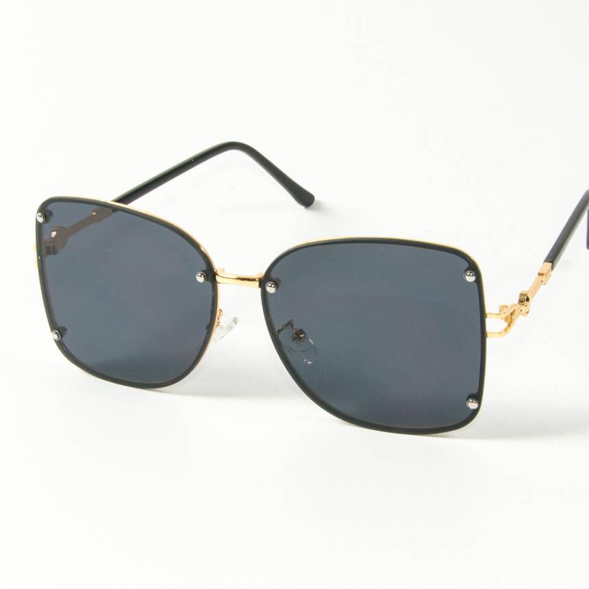 Оптом женские солнцезащитные квадратные очки (арт. 3-2429/3) черные, фото 2