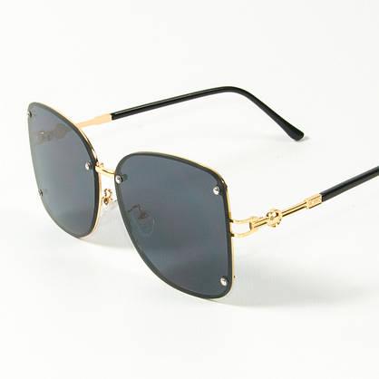 Оптом женские солнцезащитные квадратные очки (арт. 3-2429/3) черные, фото 3