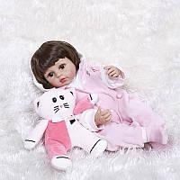 Кукла реборн 53 см полностью виниловая девочка Людмила