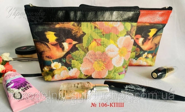 Пошитая косметичка под вышивку бисером или нитками ТМ Україночка 106-КПШ
