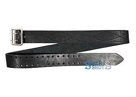 Ремінь поясний портупейний 140 см (шкіра, чорний)