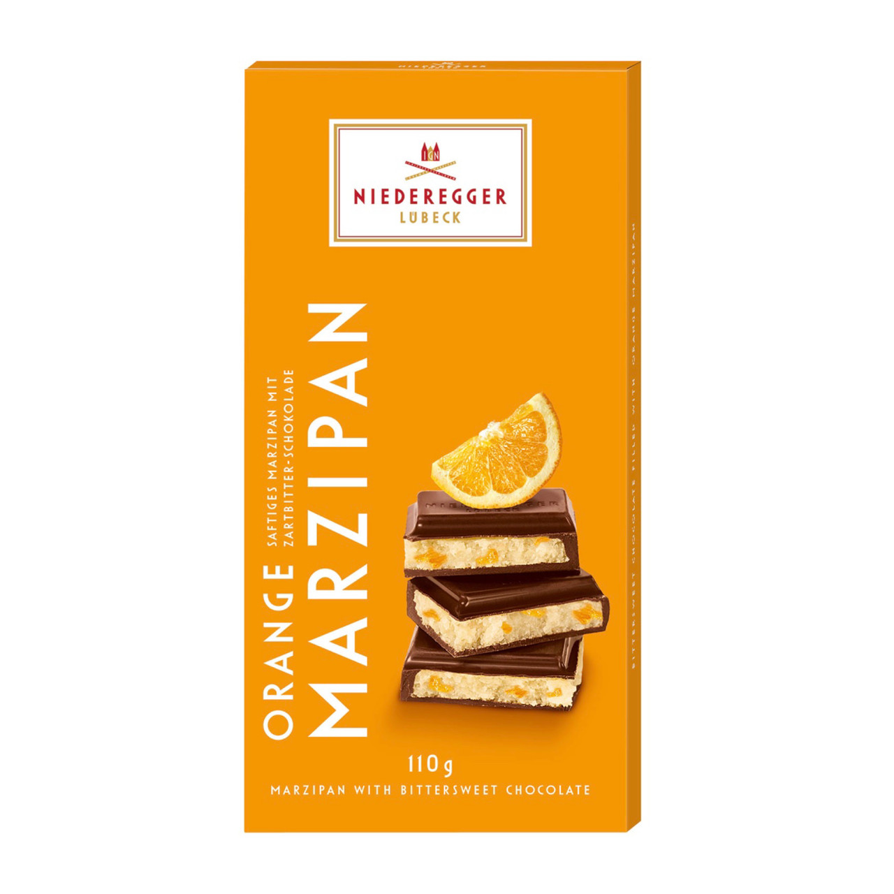 Niederegger Марципан с апельсином в чёрном шоколаде