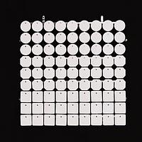 Планшеты с пайетками 30 мм, SolaAir, цвет 90 / Белый, 1 шт