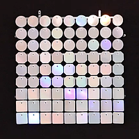 Планшеты с пайетками 30 мм, SolaAir, цвет 100 / Радужный, 1 шт