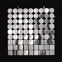 Планшеты с пайетками 30 мм, SolaAir, цвет 99 / Зеркальное серебро, 1 шт