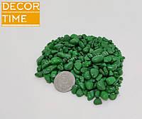 Гравий цветной (Зеленый) декоративный для сада , окрашенная речная галька (63191)