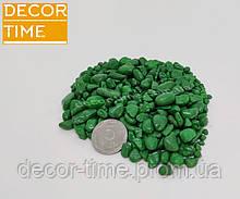 Гравій кольоровий (Зелений) декоративний для саду , пофарбована річкова галька (63191)