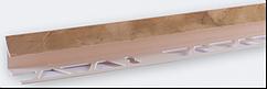 Угол внутренний под плитку (7-8 мм) мрамор бежевый LTR01