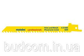 Сабельное полотно по дереву с гвоздями Metabo Professional 150 мм, S 711 VF, 5 шт (631985000)