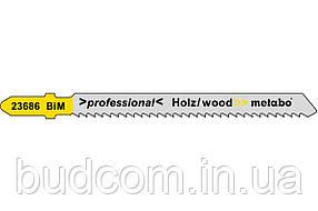 Лобзиковое полотно для дерева с обратным зубом Metabo Professional 74 мм T 101 BRF, 5 шт (623686000)