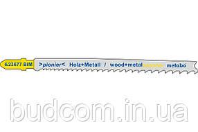Пилка для лобзика по дереву / металлу Metabo Pionier 106 мм T 345 XF, 5 шт (623677000)