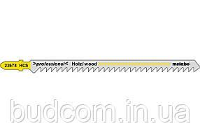 Лобзиковое полотно для дерева Metabo Professional 126 мм T 344 D, 5 шт (623678000)