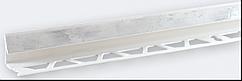 Угол внутренний под плитку (7-8 мм) мрамор серый LTR03