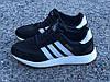Кроссовки женские черные Adidas Iniki сетка реплика, фото 4