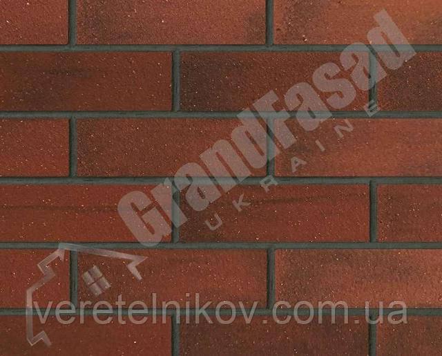 Гибкий кирпич клинкер гладкий «ELASTOCLIN» (Эластоклин) цвет №33 затирка графит