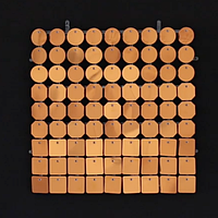 Планшеты с пайетками 30 мм, SolaAir, цвет 49 / Медный, 1 шт