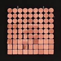Планшеты с пайетками 30 мм, SolaAir, цвет 42 / Розовое Золото, 1 шт