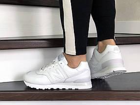 Кроссовки белые прессованная кожа, с черными шнурками., фото 2