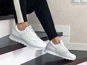 Кроссовки белые прессованная кожа, с черными шнурками., фото 3