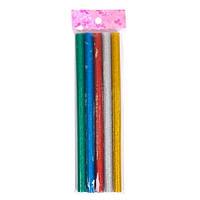 Клей декоративный, стержни цветные для клеевого пистолета 11мм, 5шт 80г