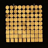 Планшеты с пайетками 30 мм, SolaAir, цвет 47 / Золото, 1 шт