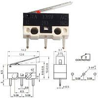 Концевой выключатель переключатель микро с флажком KW-1 2А