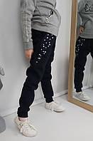 Теплі штани на флісі з намистинами для дівчинки 104-152 р