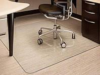 Защитный коврик подложка под кресло 1500х1000мм. Толщина 2 мм. Кристально-прозрачный.