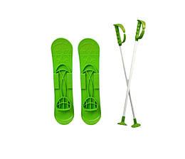 Детские лыжи SKI BIG FOOT Зеленые //