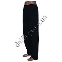 Мужские спортивные штаны трикотаж черные НОРМА B230-1 оптом со склада в Одессе
