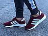 Кроссовки женские бордовые Adidas Iniki сетка реплика, фото 2