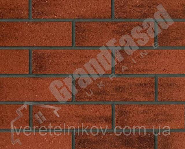 Гибкий кирпич клинкер гладкий «ELASTOCLIN» (Эластоклин) цвет №35 затирка графит