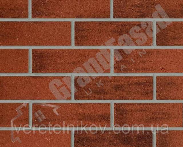 Гибкий кирпич клинкер гладкий «ELASTOCLIN» (Эластоклин) цвет №35 серая затирка