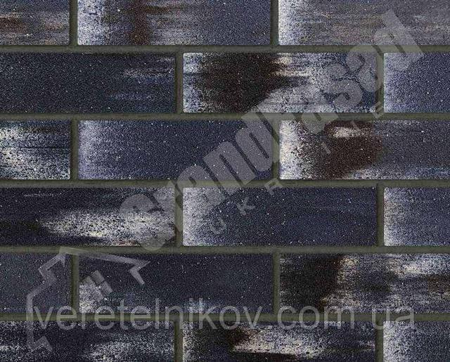 Гибкий кирпич клинкер гладкий «ELASTOCLIN» (Эластоклин) цвет №36 затирка графит