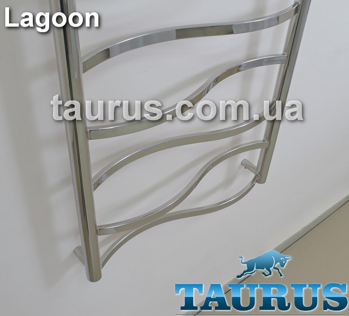 Самый маленький, узкий полотенцесушитель Lagoon 4/450х400 из н/ж стали. Перемычки в форме волны (труба 20х10).