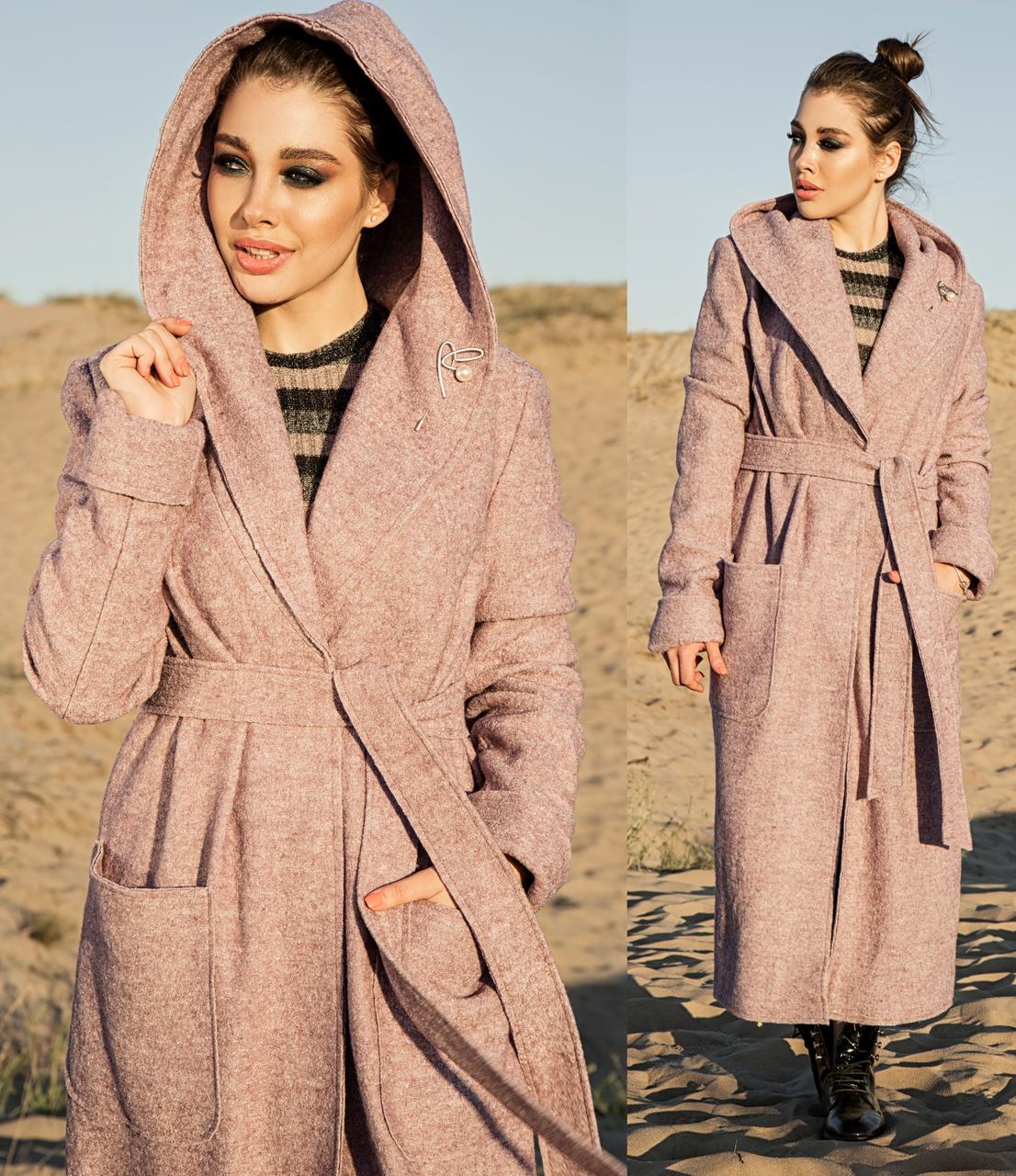 Длинное пальто оверсайз женское демисезонное осеннее (oversize) шерсть