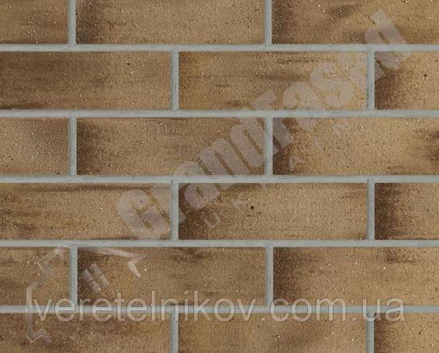 Гибкий кирпич клинкер гладкий «ELASTOCLIN» (Эластоклин) цвет №37 серая затирка